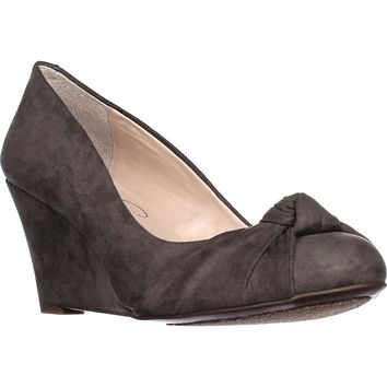 Jessica Simpson Siennah Wrap Toe Wedge Pumps, Gnocchi Grey, 6 US / 36 EU