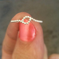 Sterling Silver Unity Stacking Ring