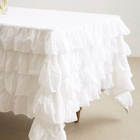 Petticoat Tablecloth by Anthropologie in Neutral Size: One Size Kitchen