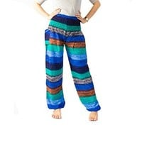Colorful Pants Hippie Maxi Pants Peacock Design Thai Pants Gypsy Pants Bangkok Pants