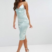 Club L Satin Cami Midi Dress at asos.com