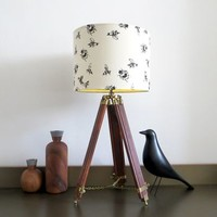 Bumble Bee Lampshade With Colour Inside Lining