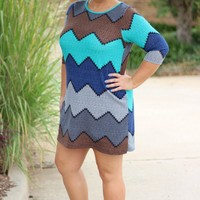 Sea Island Chevron Dress/Tunic ~ Mint ~ Sizes 12-18