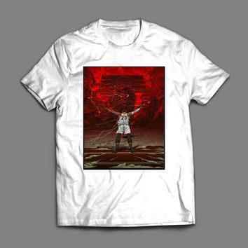 LEBRON JAMES LION ART BASKETBALL T-SHIRT