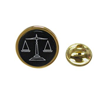 Golden Scale of Justice Law Lapel Pin