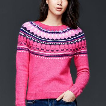 Gap Women Circular Fair Isle Sweater