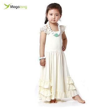 Mogatang Summer Toddler Girl Clothing Long Maxi Dresses Girls Clothes Boutique Clothing Children's Clothing Kids Dresses#ML18504