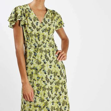 PETITE Ditsy Floral Wrap Midi Dress - New In This Week - New In
