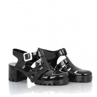 Missguided - Bettie Jelly Heeled Sandals In Black