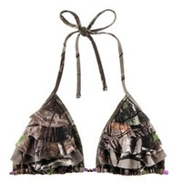 Academy - Realtree Junior's APG Stacked Ruffle Slider Triangle Bra Swim Top