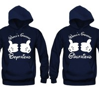 World's Greatest Boyfriend - World's Greatest Girlfriend Unisex Couple Matching Hoodies