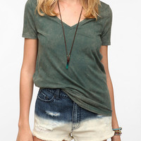 BDG Pieced Back V-Neck Tee