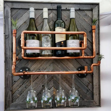 Copper Reclaimed Wine Rack