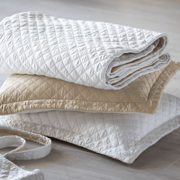 Silk & Sensibility Ivory and Ecru Quilted Coverlet Set