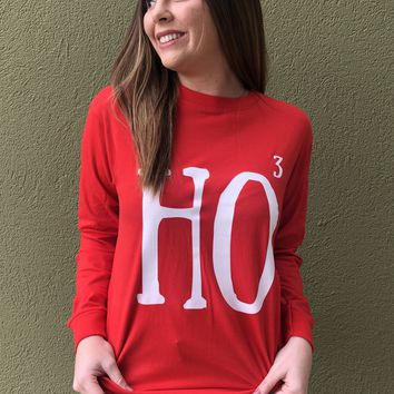 Ho Cubed Top- Red