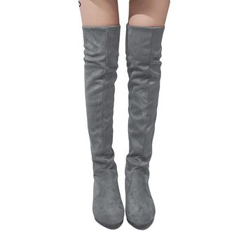 Woman's High Boots Shoes Fashion Women Over The Knee High Boots Autumn Winter Thigh High Boots