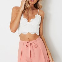 Obsessed Lace Cami Off White