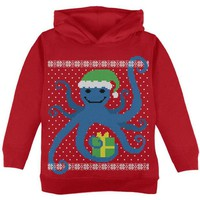 DCCKJY1 Ugly Christmas Sweater Octopus Red Toddler Hoodie