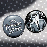 The Twilight Zone- One Inch Pinback Button Set
