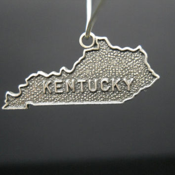 Kentucky Charm, Sterling Silver, State Charm, Sterling Charm, 925 Charm, Silver Charm, Souvenir Charm, Kentucky Souvenir, 925 Kentucky
