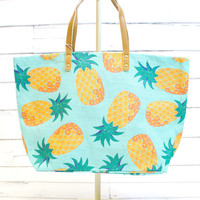 Fruit Jute Tote Bag {Pineapple}