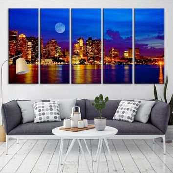 54332 - Boston City Decorative Wall Art Canvas Print