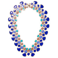 Blue Ombre Droplet Collar