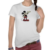vintage Mickey Mouse presenting hand on hip T-shirts from Zazzle.com