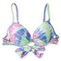 Aeropostale  The Bikini Lab Tie-Dye Push-Up Bralette Top