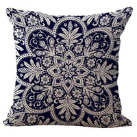 Pillow Case Bohemian Style Cotton linen Blend Throw Pillow Cushion Cover Sofa Chair Cushion Square Pillowcase Home Decor