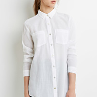 Semi-Sheer Oversized Shirt