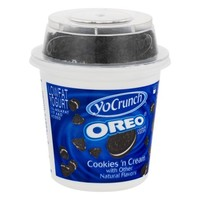 Yocrunch Lowfat Yogurt Vanilla w/Oreo Cookie Pieces Dairy, 6 oz - Walmart.com