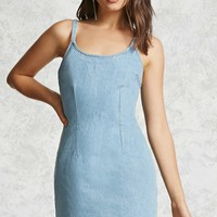 Fitted Denim Mini Dress