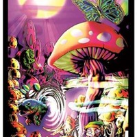 Magic Valley Psychedelic Shroom Black Light Poster 23x35