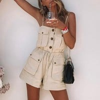 Imogen Button Romper