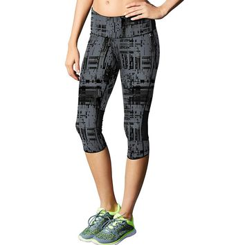 Champion Women's Marathon Printed Knee Tights Style: M0569P-Dada Grey Glitch Plaid/Black S