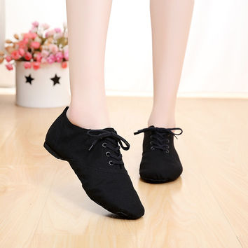 Professional Soft canvas Indoor dance jazz shoes woman ballet pointe shoes