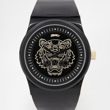 Kenzo Black Small Tiger Head Watch