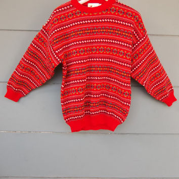 80s Oversized Sweater like Missoni / Unique by RetroHappiness