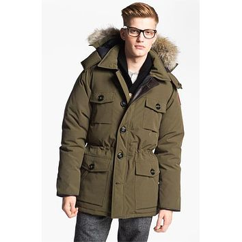 Men's Canada Goose 'Banff' Slim Fit Parka with Genuine Coyote Fur Trim