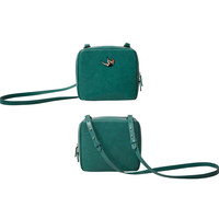 YiZi Leather Mini Crosbody Bag/Green Falling