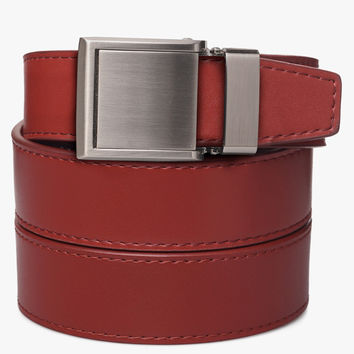Red Leather Golf Belts