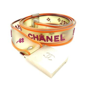 Auth CHANEL belt ladies used E827