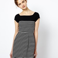 French Connection Country Cotton Dress in Stripe