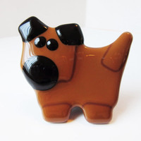 Dog Figurine - Dog Decor - Fused Glass Dog - Dog Sculpture - Standing Dog - Dog Lover Gift - Pet Lover Gift - Gift for Dog Lover