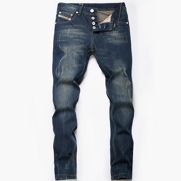 Slim fit men's jeans classic new denim
