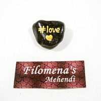 Love word, Love you, Word stone, Love words, Love sign, Friendship gift, Romantic gift, Hashtag, Painted stone, Word stones, Funny gift