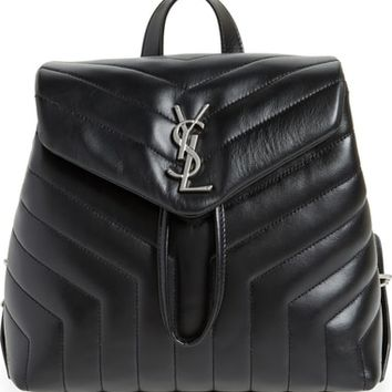 Saint Laurent Small Loulou Quilted Calfskin Leather Backpack | Nordstrom