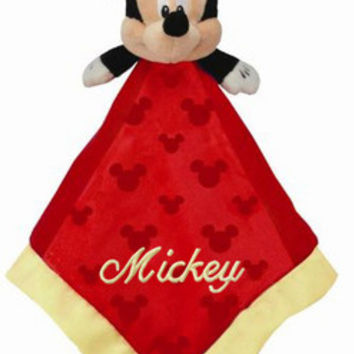 Personalized Mickey Mouse Security Blanket