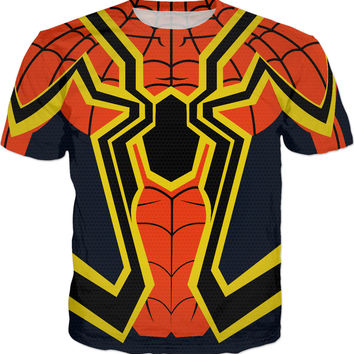 Super Hero Spider Costume Men And Kids T-Shirts
